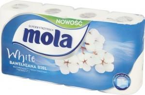 Mola White Bawełniana Biel Papier toaletowy 8 rolek