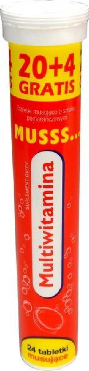 Musss multiwitamina tabletki musujące o smaku pomarańczowym 24 tabletki