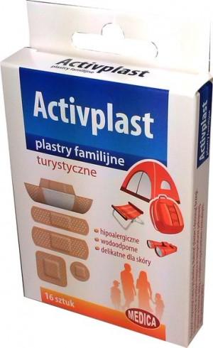 Activplast plastry turystyczne rózne rodzaje 16 szt