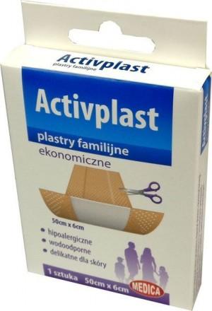 Activplast plastry ekonomiczne 6cm*50cm 1 szt
