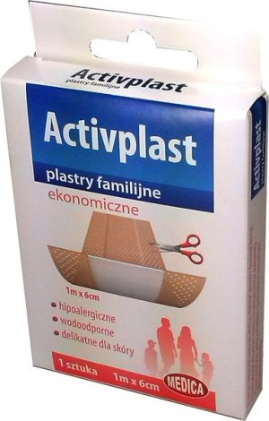 Activplast plastry ekonomiczne 1m x 6cm 1 szt