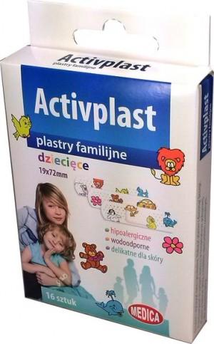 Activplast plastry dziecięce 19x72 mm 16 szt