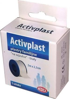 Activplast plastry na szpulce 5m x 2,5 cm 1 szt