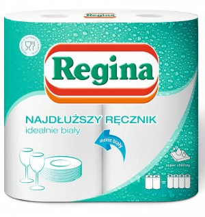 Regina ręczniki papierowe 2=4 najdłuższe rolki 2 szt.