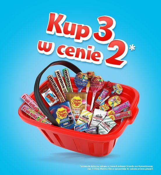 Kup w promocji 3 w cenie 2! Mentos, Chupa Chups, Fruitella